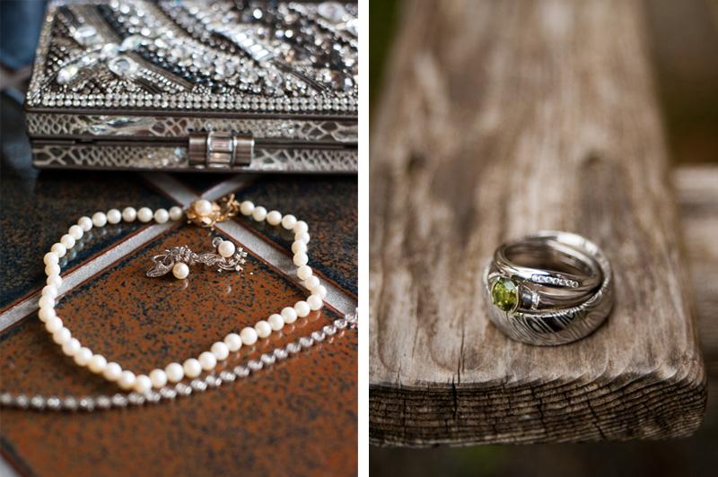 Wedding jewelry detail