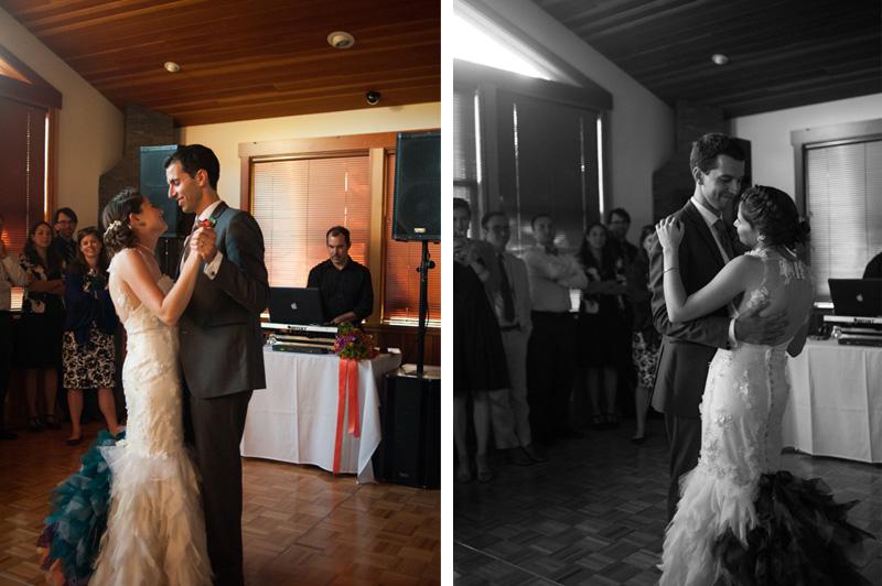 First dance at Point Reyes Seashore Lodge wedding