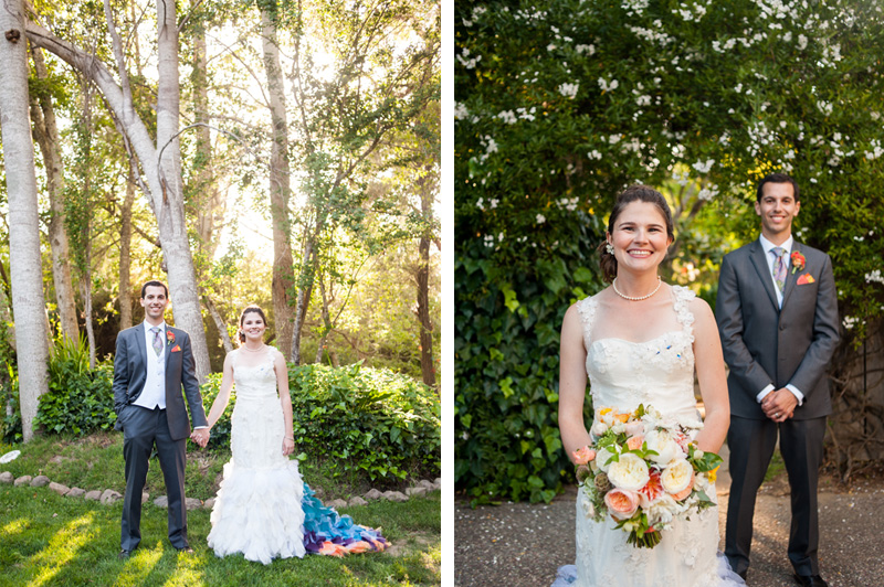 Portrait of Bride and Groom at Point Reyes Seashore Lodge