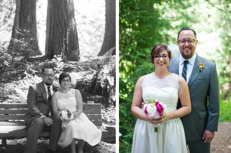 Portraits of Bride and Groom in Tilden Park