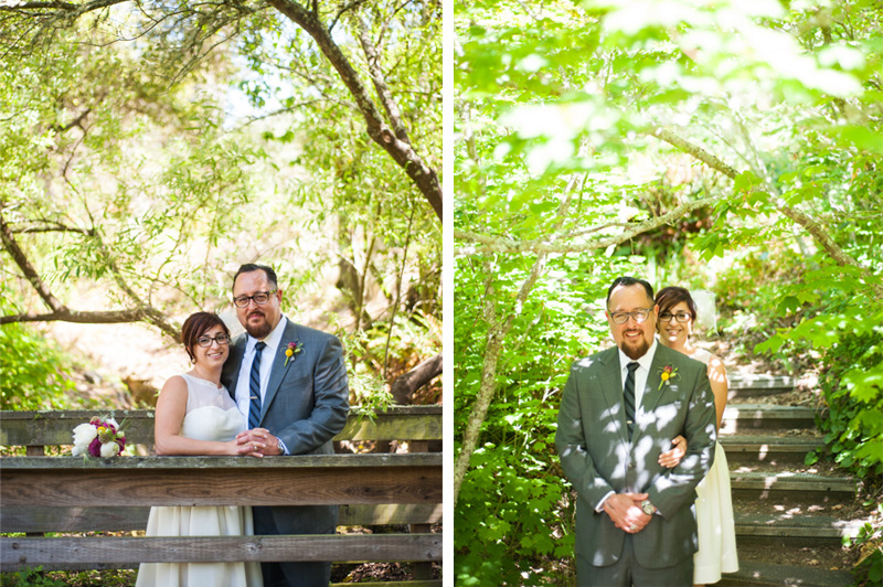 Portraits of Bride and Groom in Tilden Botanic Garden