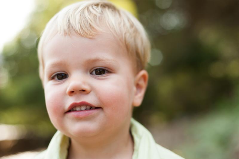 Closeup of child