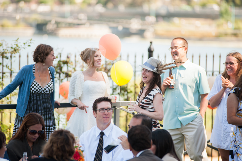 Wedding guests during reception at Camron-Stanford Wedding