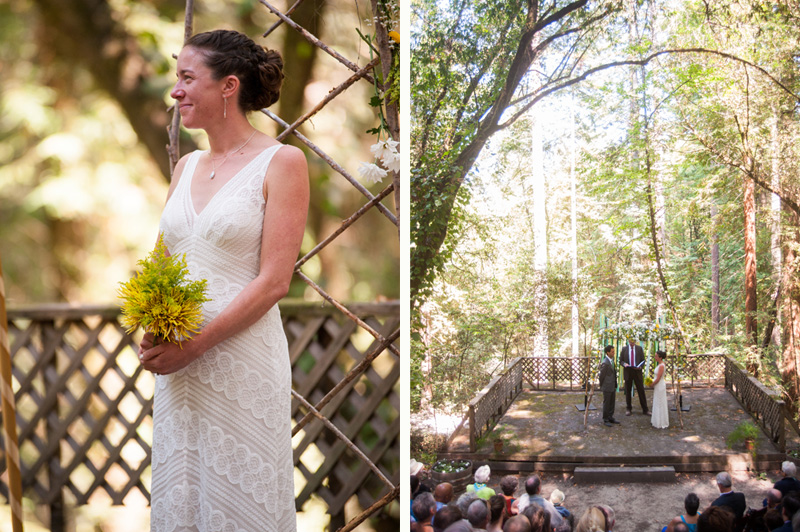 Wedding ceremony at Griffith Woods
