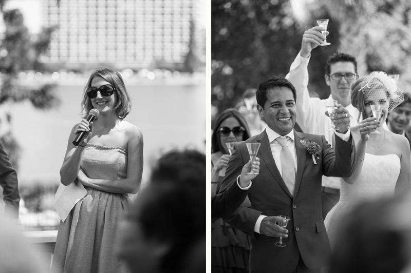 Wedding toast at Lake Merritt