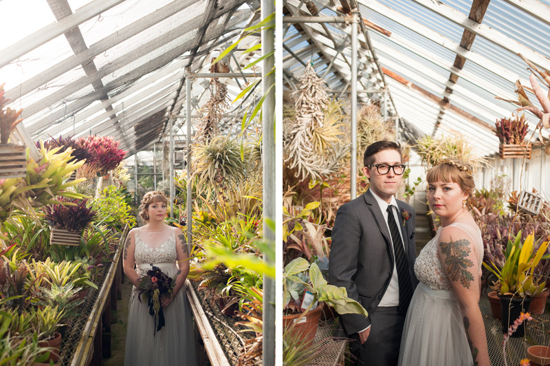 Portraits of Bride and Groom at Shelldance Orchid Gardens