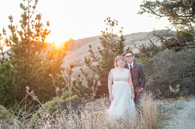Sunset wedding portraits at shelldance orchid gardens