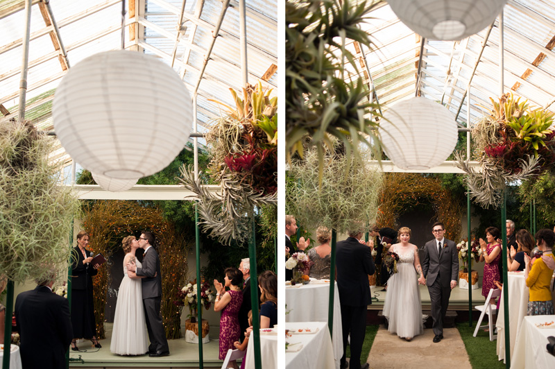 Wedding in orchid greenhouse