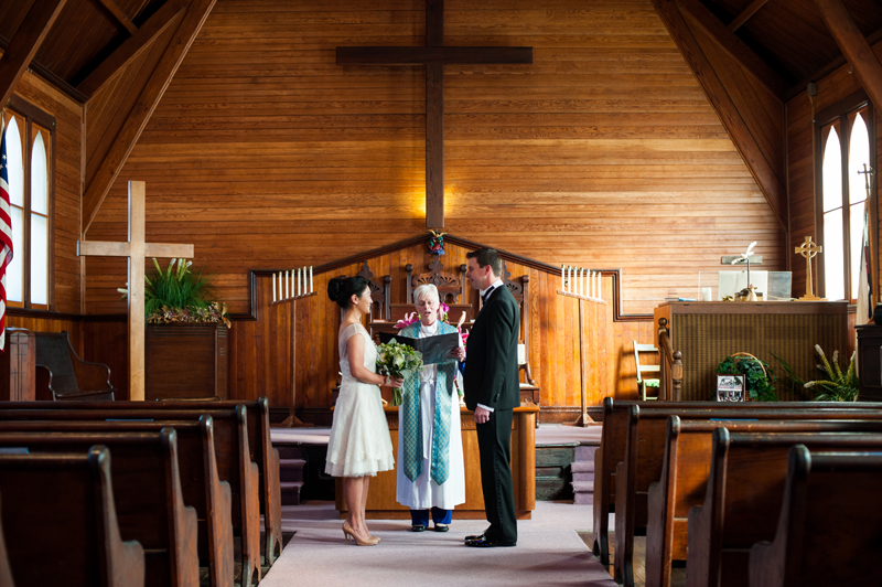 Intimate wedding in Bolinas