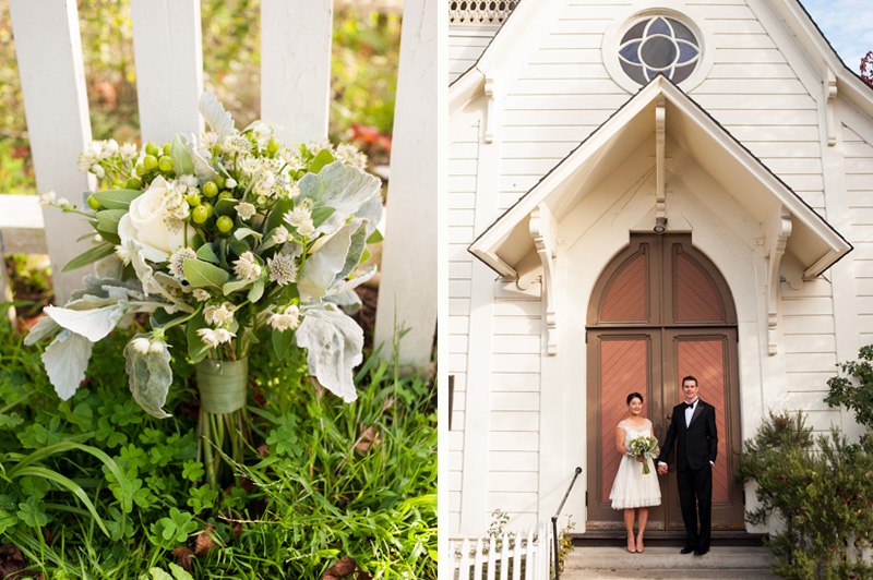 Wedding at Calvary Presbeyterian Chapel in Bolinas