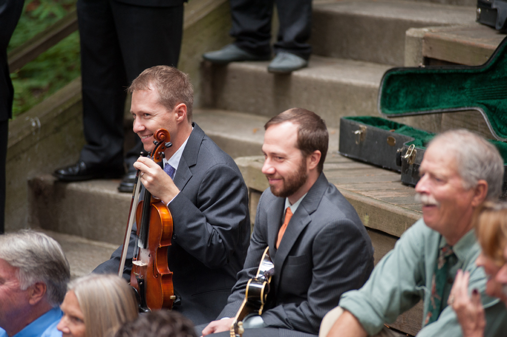 Wedding musicians at UC Berkeley Botanical Garden