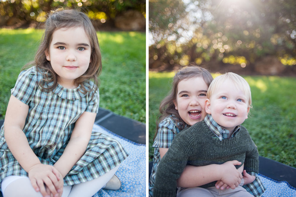 Natural light photo of siblings in piedmont park