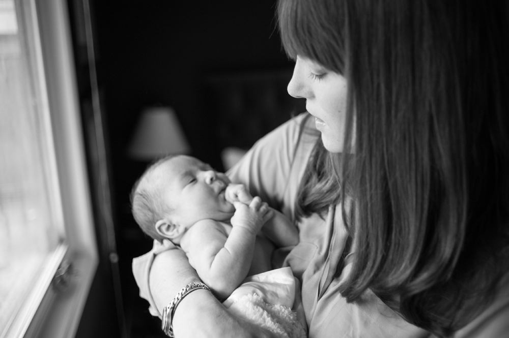 Portrait of mother and newborn daughter in Orinda, CA