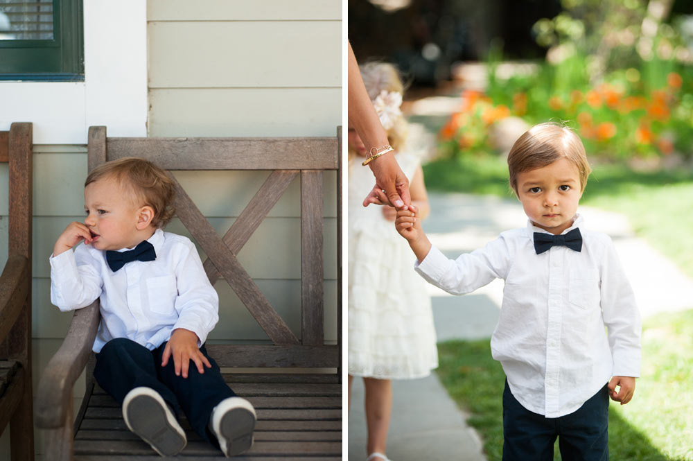 Portraits of ring bearer boys