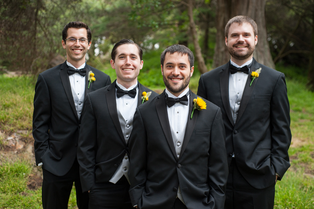 Groom and his groomsmen in Golden Gate Park