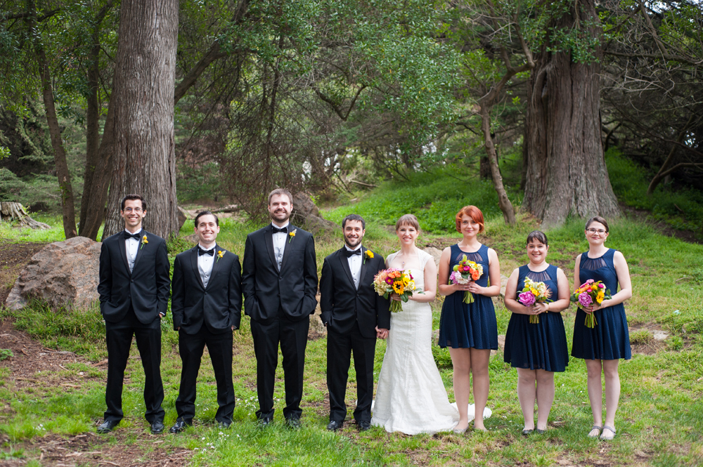 Wedding party in Golden Gate Park