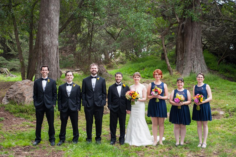 Wedding party in Golden Gate Park