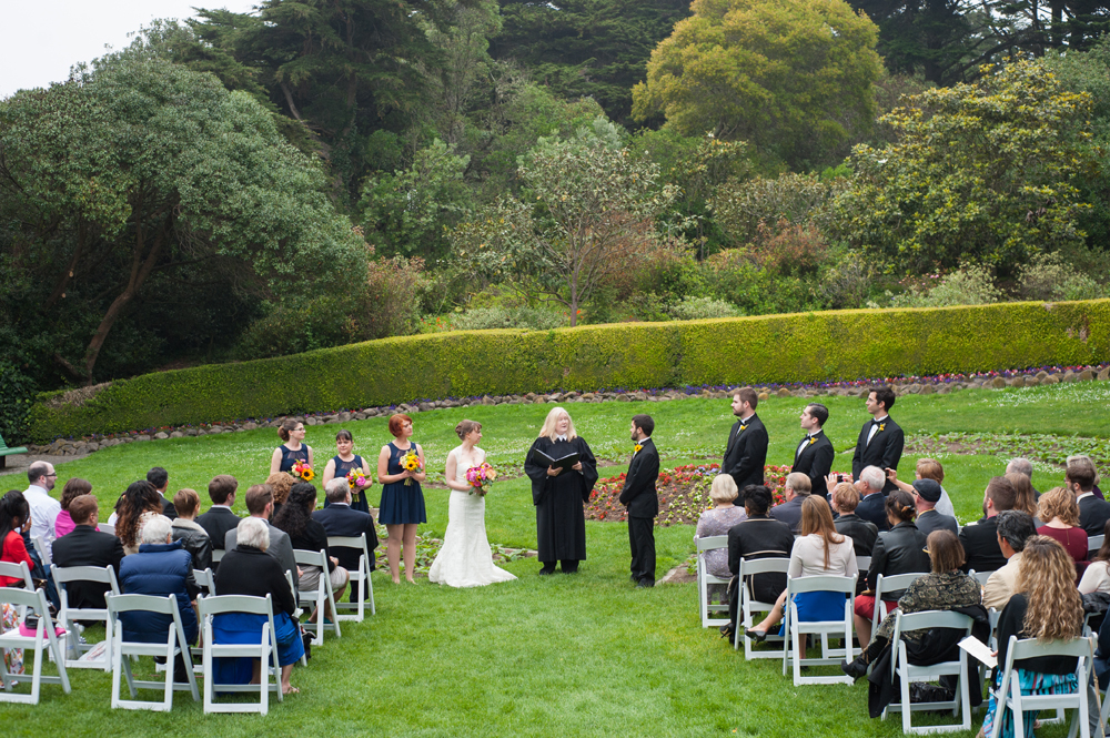 Wedding at the Tulip Garden in Golden Gate Park