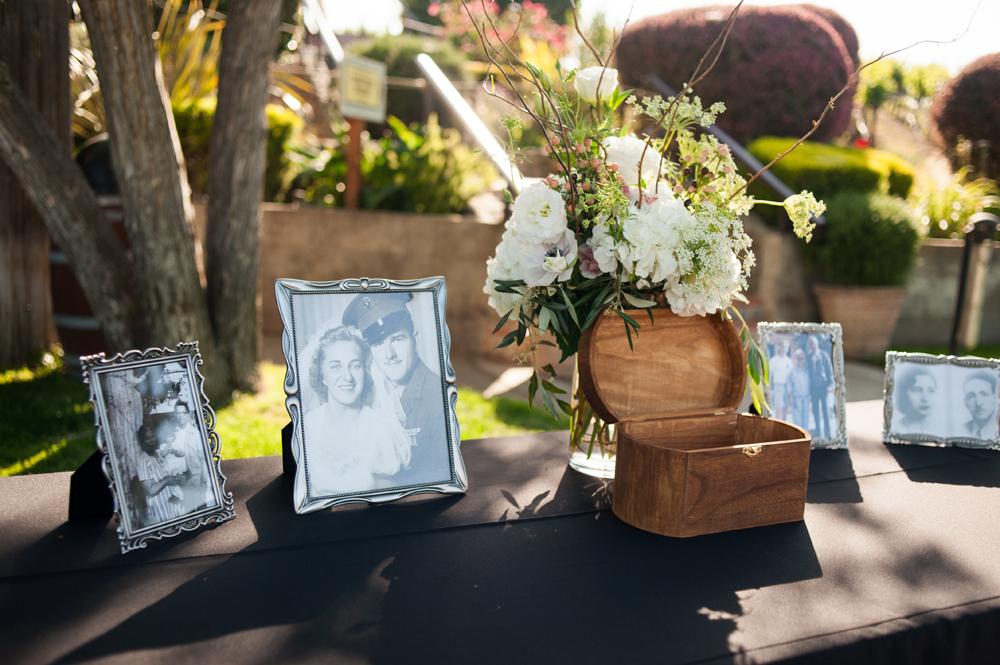 Table setup at livermore vineyard wedding