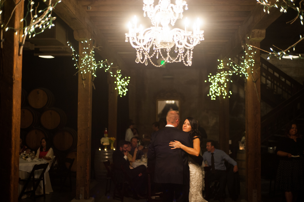 First dance inside wine cellar at Murrieta's Well