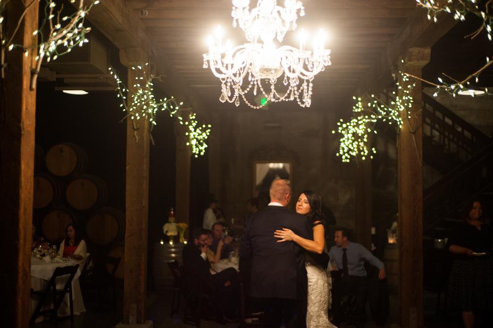 First dance inside wine cellar at Murrieta's Well