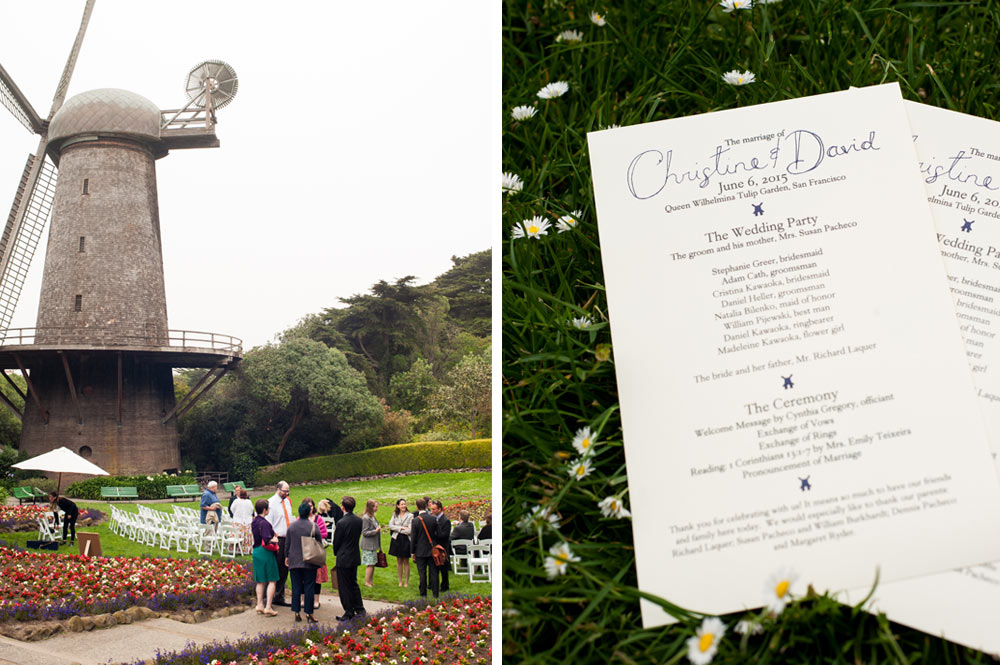 Wedding ceremony at the Queen Wilhelmina Tulip Garden