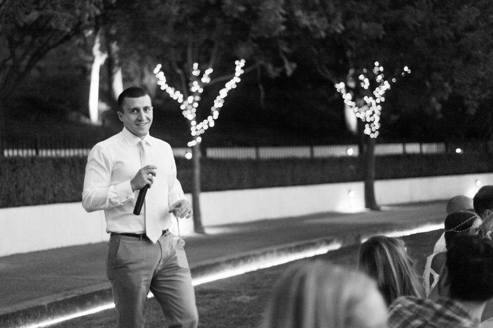Brother of bride giving toast