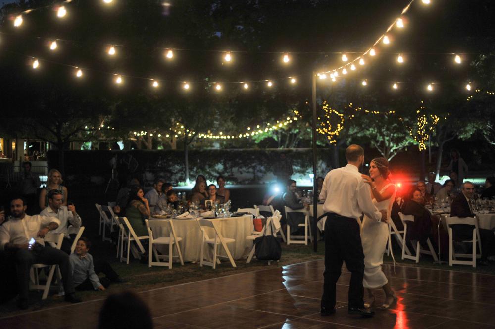 Bride and Groom dancing at Wente Vineyards