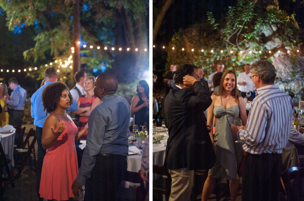Candid of wedding guests