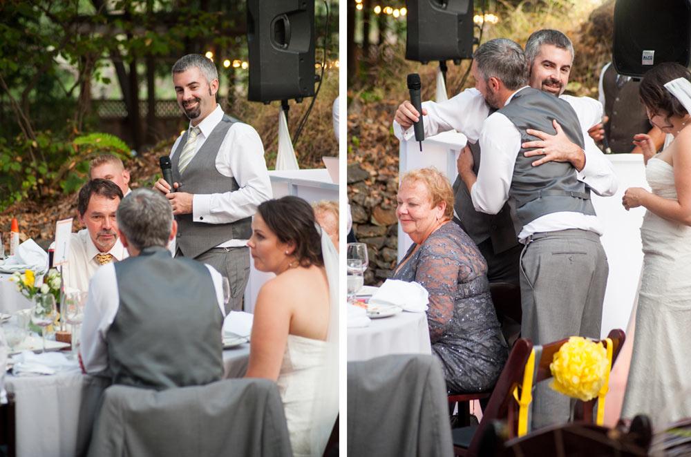 Brotherly love at wedding