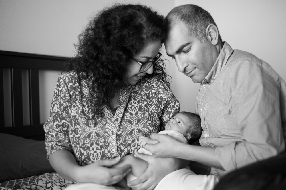 Newborn baby family session in Oakland