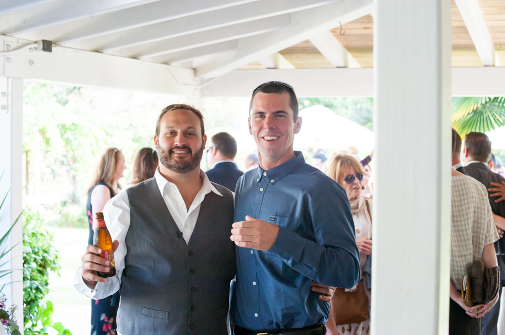 Portrait of wedding officiant and guest at Rancho Soquel