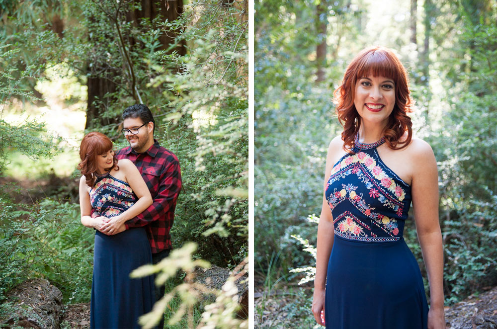 Engagement session at Big Basin State Park