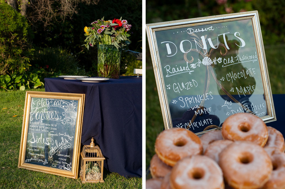 Custom signage and donut bar