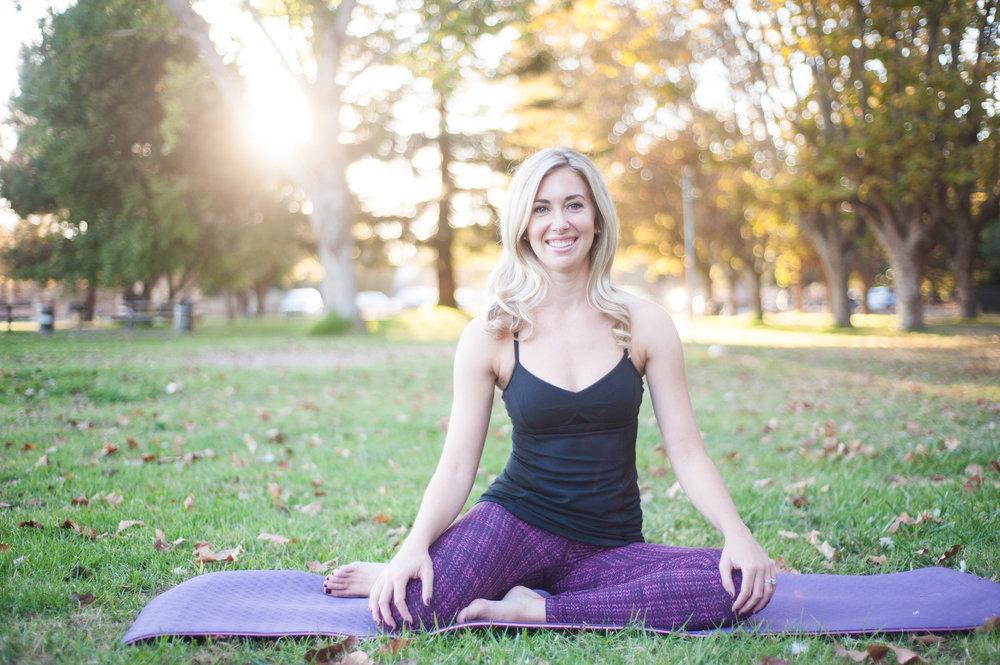 Portrait of wellness instructor in Portland park setting
