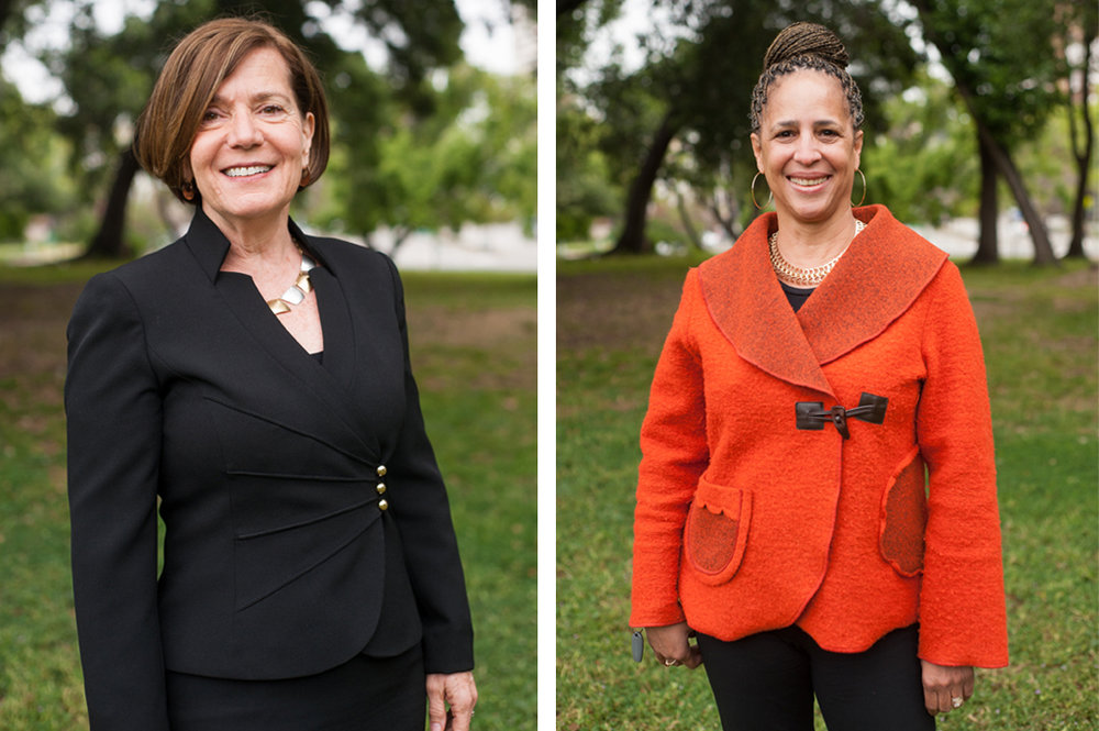 Business portraits of two women in Oakland