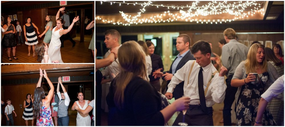Photos of wedding guests dancing in Oakland