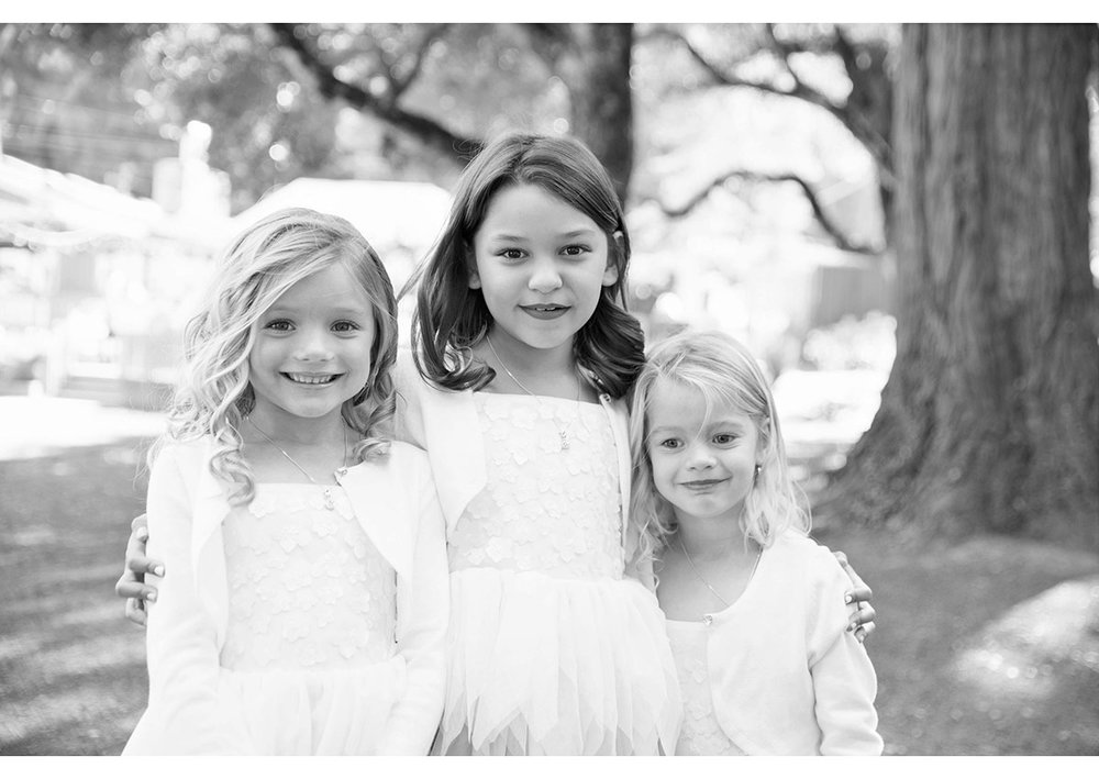 Portrait of flower girls at Mountain Terrace wedding