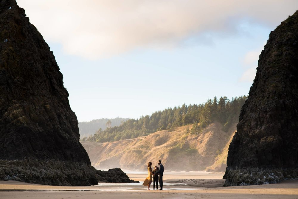 Elopement at Cannon Beach