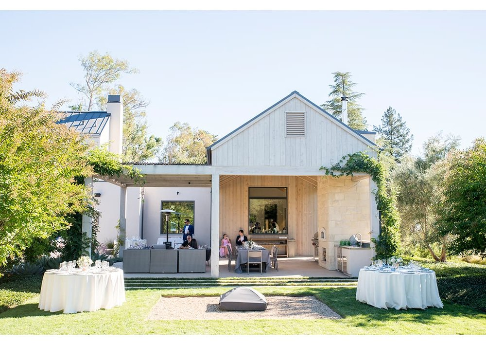 Modern home in Sonoma before wedding ceremony