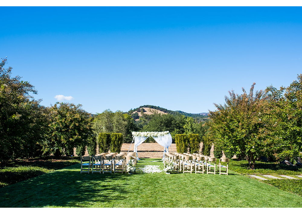 Photo of wedding ceremony layout
