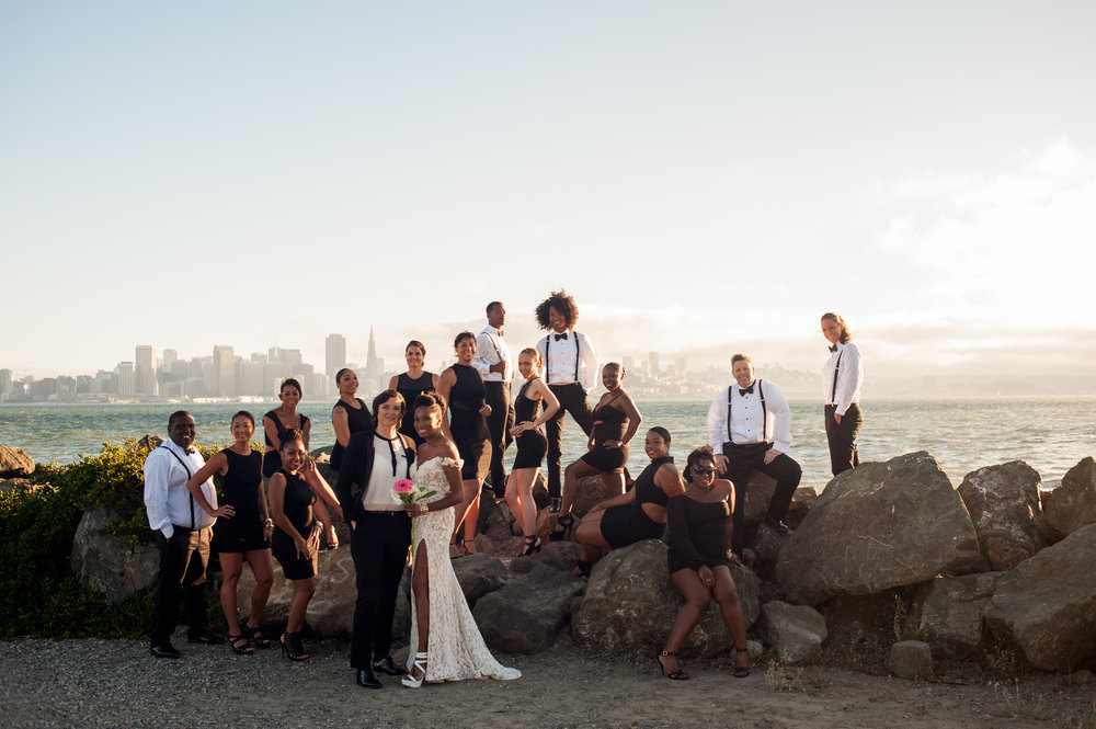 Post Ceremony Photo Shoot on Treasure Island
