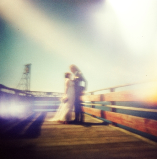 Hey look, it's the old Memorial Bridge! Photo credit goes to our fabulous wedding photographer. (You can message me for her details.)