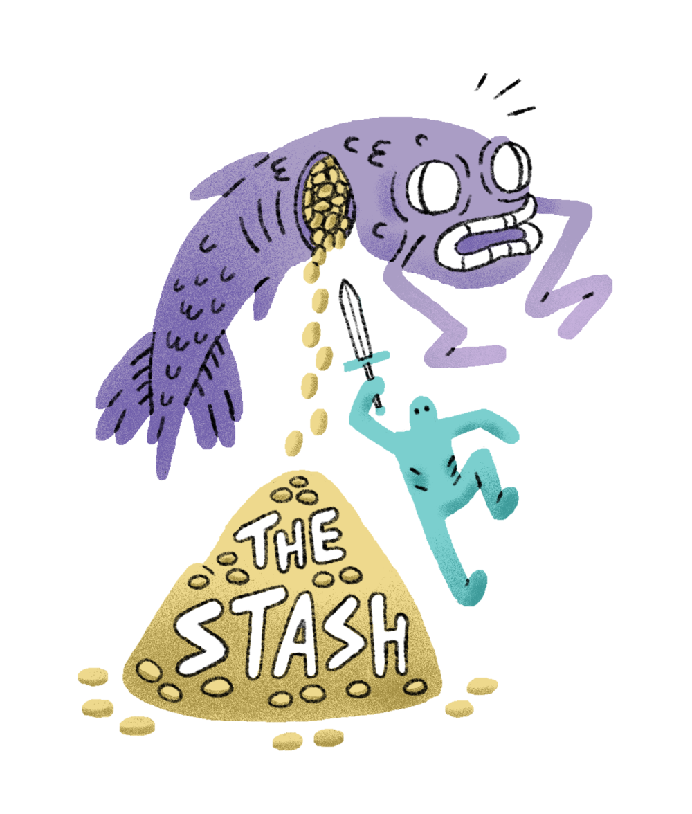The Stash  t-shirt design