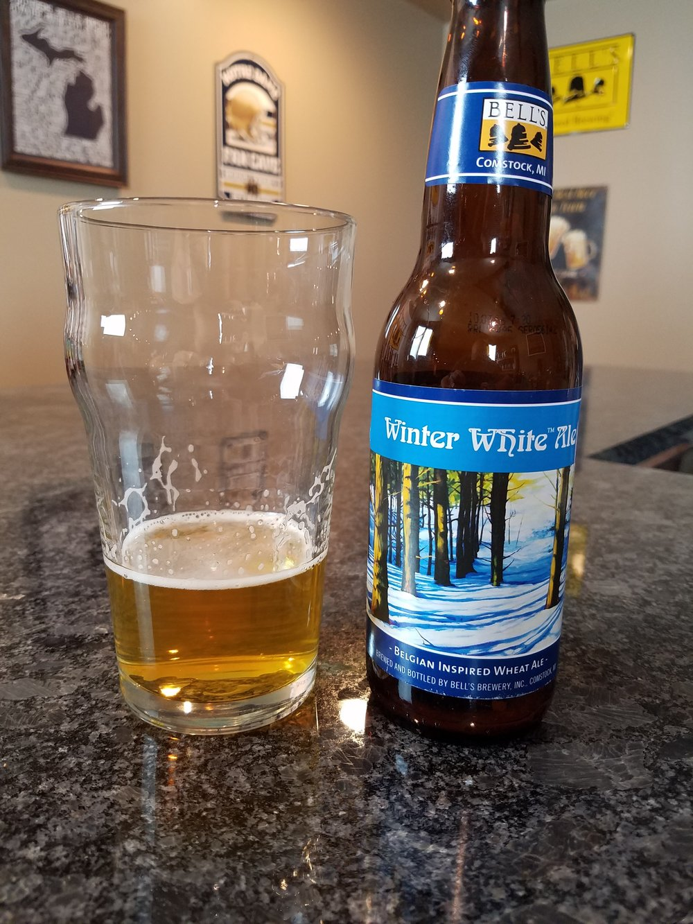 Winter White Ale 5% ABV - Want to see the Video review? Click on the image.