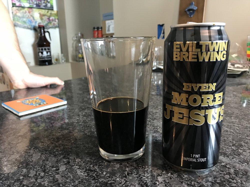 EVEN MORE JESUS12% ABV 75 IBUS - Want to see the Video review? Click on the image.