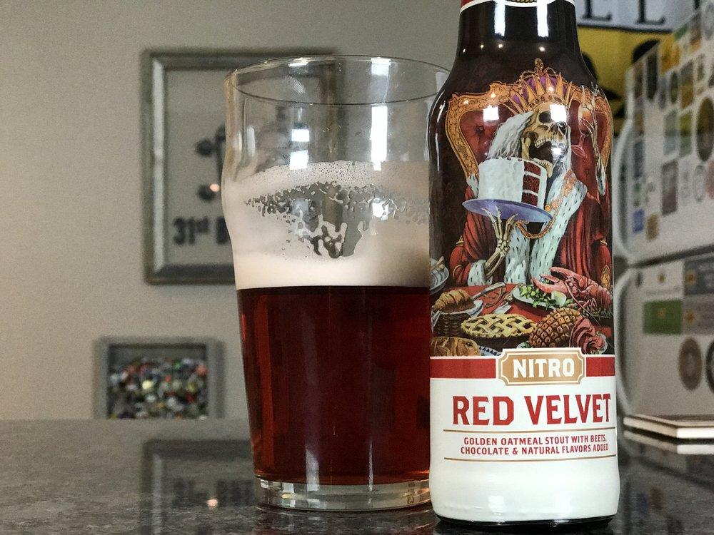 NITRO RED VELVET 5.5% ABV 35 IBUS - Want to see the Video review? Click on the image.