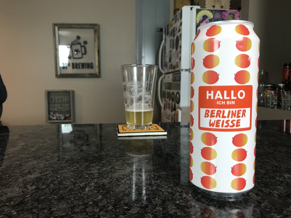 Hallo Ich Bin Berliner Weisse Mango 3.7% ABV - Want to see the Video review? Click on the image.