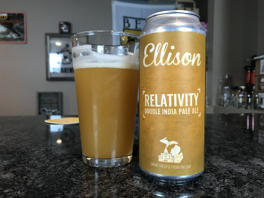 Relativity DIPA 8% 70 IBUs - Want to see the Video review? Click on the image.