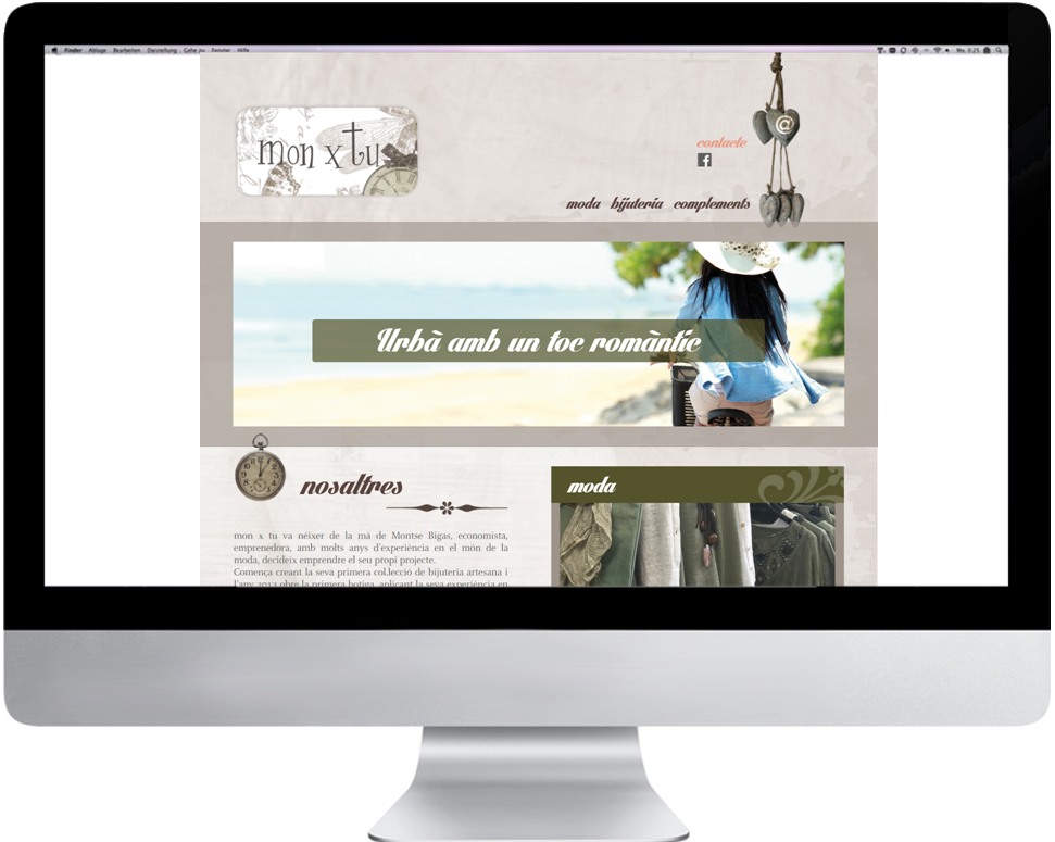 Responsive Web   Personalizada y a medida  estilo monxtu  www.monxtu.cat
